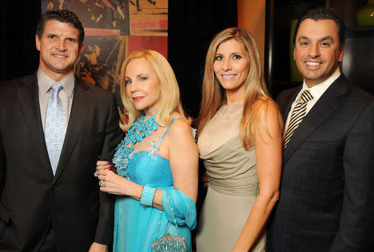 From left: Mark Pickard and Carolyn Farb with Gina and Dr. Devinder Bhatia