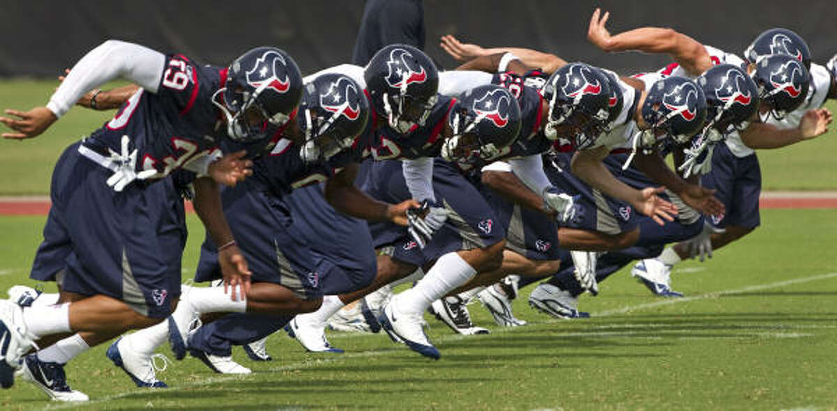 The Texans will have 14 organized team activities before next month's minicamp.