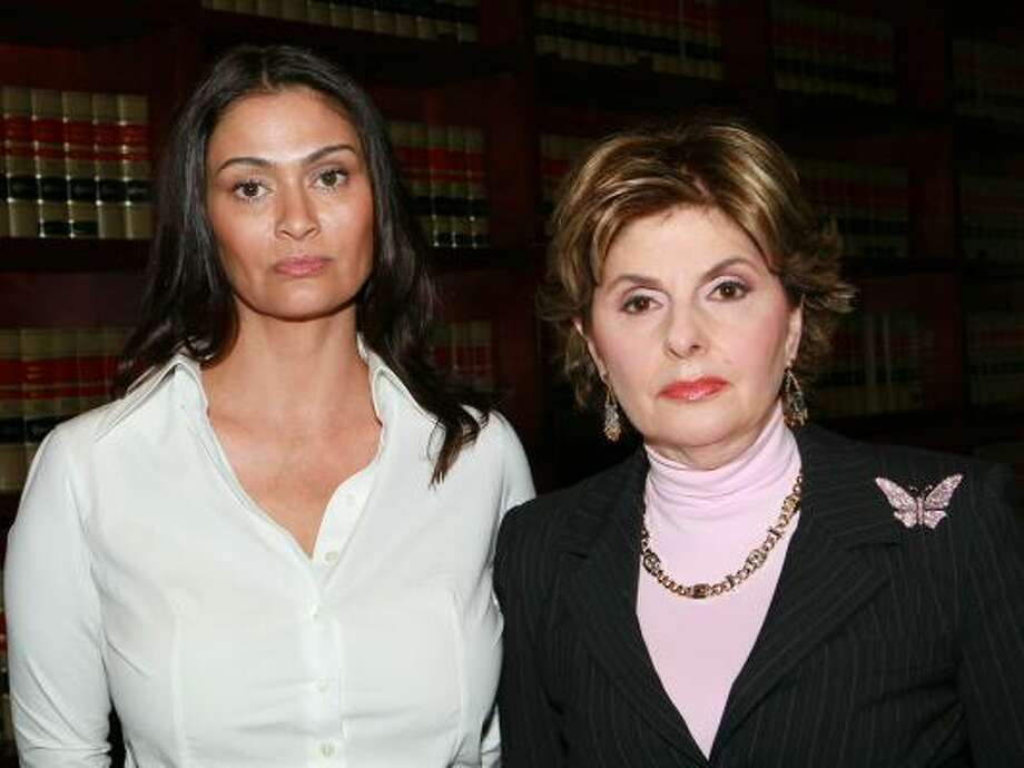 Charlotte Lewis, left, and lawyer Gloria Allred pose during a press conference  in Los Angeles. In stunning new reports, Lewis alleges that she was sexually abused by Roman Polanski when she was 16-years-old. Photo: David Livingston, Getty Images