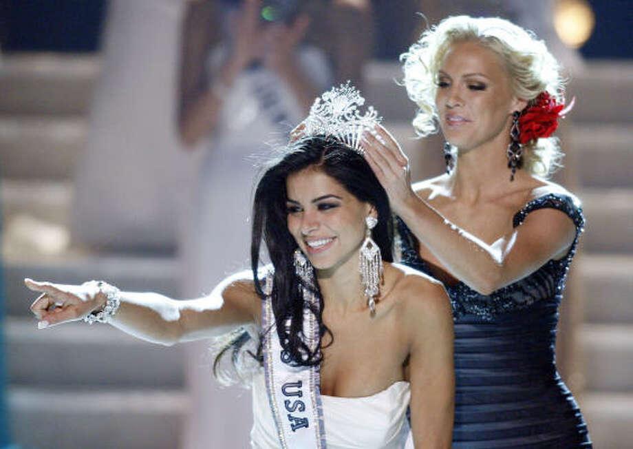 Winner Rima Fakih, Miss Michigan, is an Arab-American Lebanese immigrant. Photo: Isaac Brekken, AP