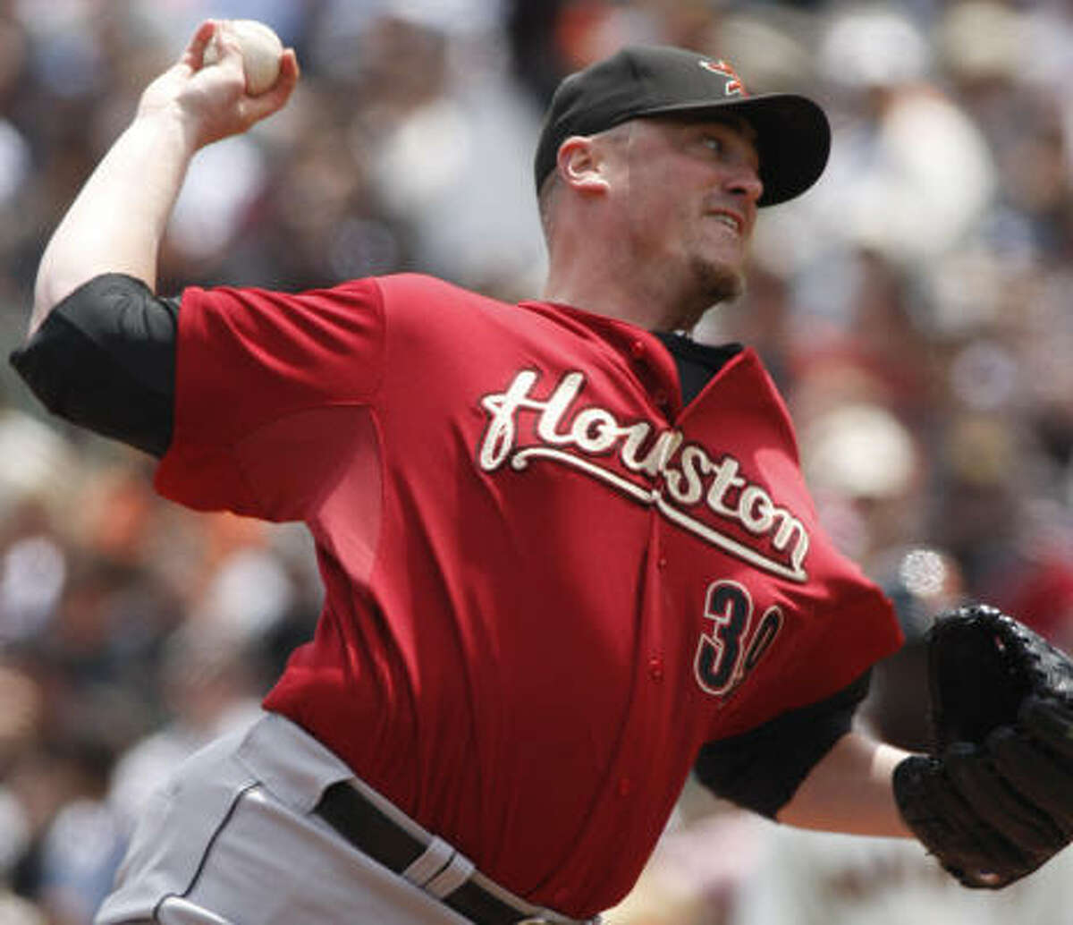 May 16: Giants 4, Astros 3 Astros starter Brett Myers pitched eight innings but allowed four runs.