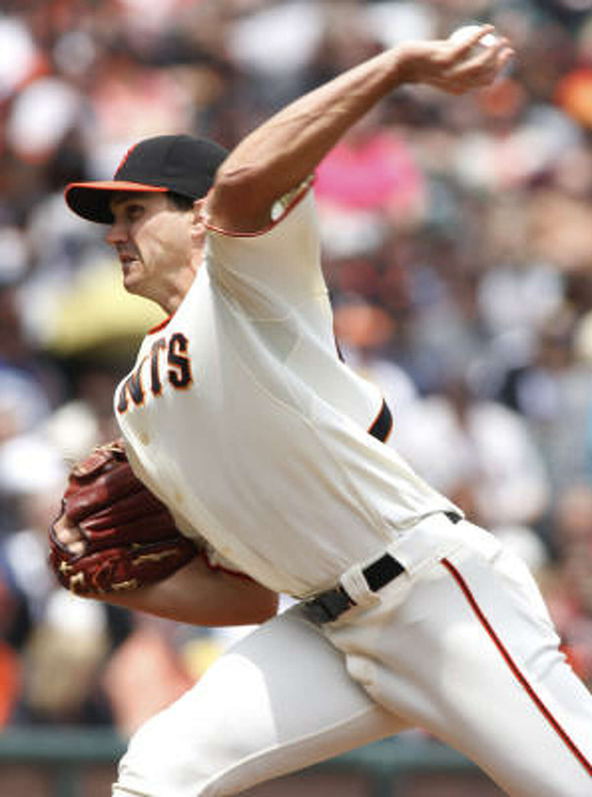 Giants starter Barry Zito picked up his sixth win of the season while pitching seven innings and giving up three runs.