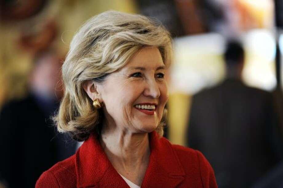 Sen. Kay Bailey Hutchison, R-Texas. Texas' senior senator has steered billions of dollars to Texas projects. Photo: Jaime R. Carrero, AP