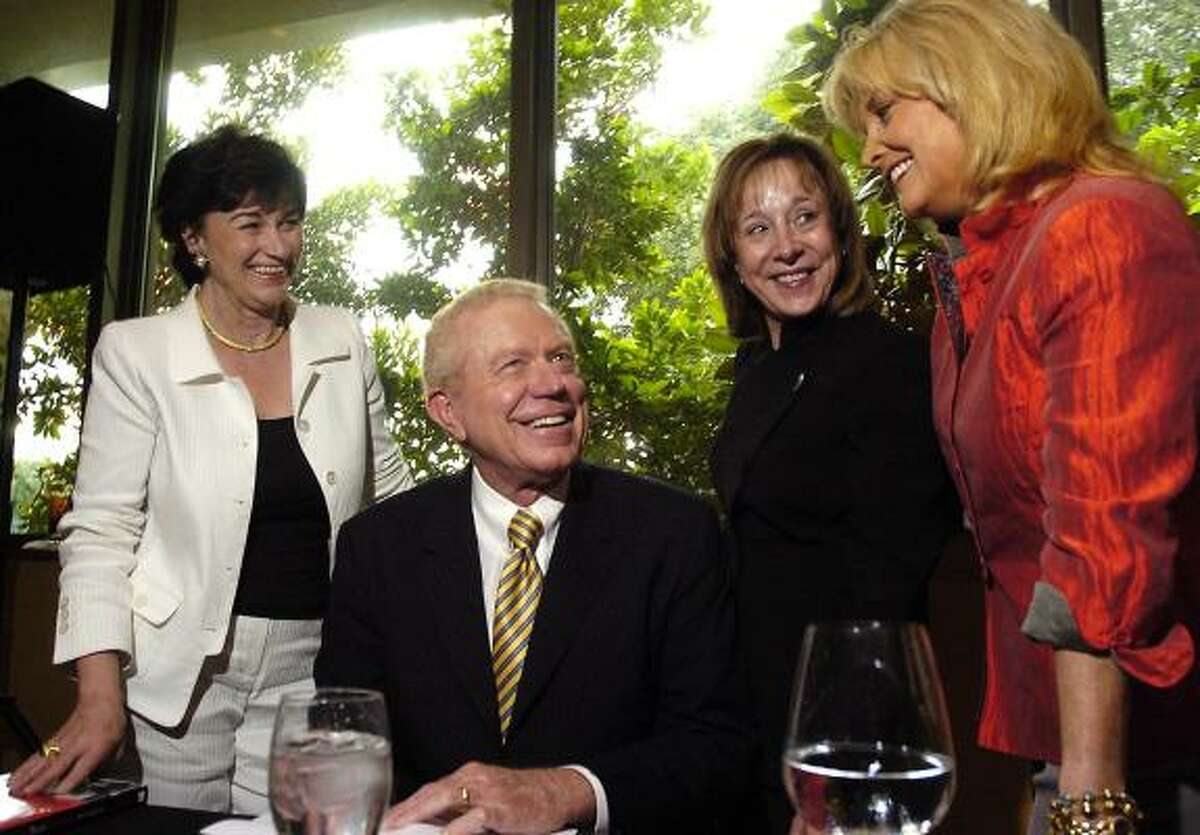 """Ben Barnes, shown at a book-signing in 2006 in Houston. The Democratic lobbyist has raised more money through the """"bundling"""" of friends' and clients' political contributions than any other lobbyist in the country."""