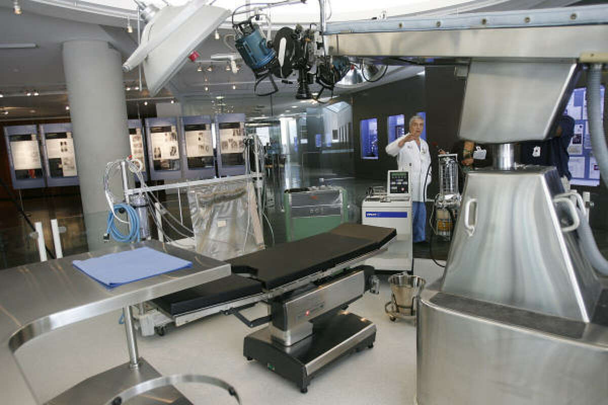 A recreation of the Operating Room designed by Dr. Michael E. DeBakey is on display along with many exhibits that chronicles the life and achievements of the pioneering heart surgeon.