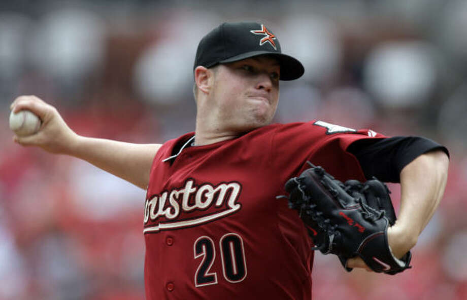 May 13: Astros 4, Cardinals 1 Astros starter Bud Norris continued his mastery of the Cardinals, allowing just one run on six hits while striking out eight in eight innings. Photo: Jeff Roberson, AP