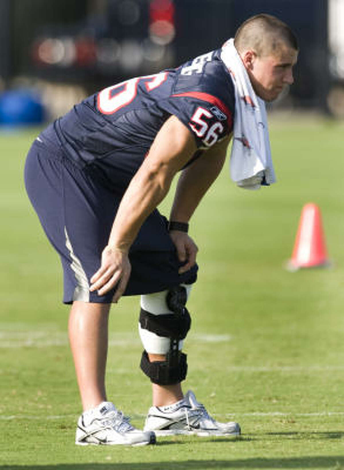 Cushing missed most of training camp with a sprained left knee.