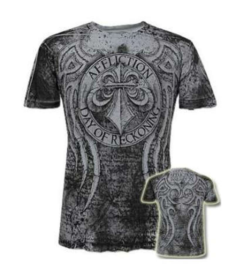 Nice Affliction shirt, bro.  You can give this to your cousin who thinks he is an MMA fighter.