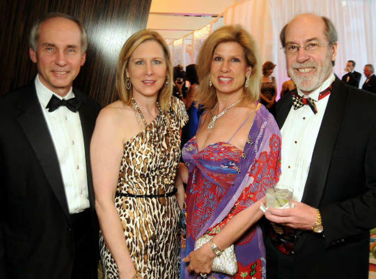From left: Bill and Margaret Pfeiffer with Connie and Cal Dalton at the 2010 Circle of Life Gala benefiting Memorial Hermann's Pediatric and Adult Centers of Excellence in Neurosciences.