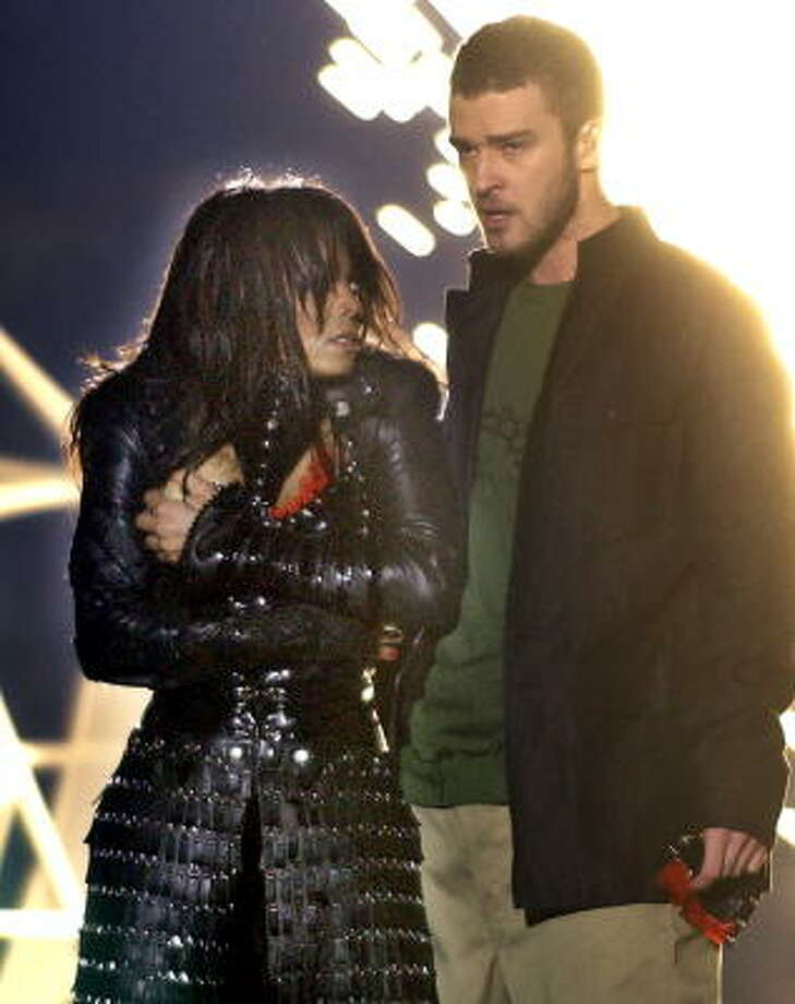 "He was lambasted (and praised) for his 2004 Super Bowl appearance here in Houston with Janet Jackson's ""wardrobe malfunction."" Photo: ELISE AMENDOLA, AP"