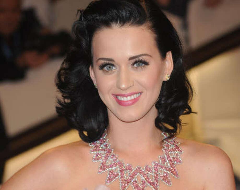 1.   Katy Perry, singer Photo: Evan Agostini, Associated Press