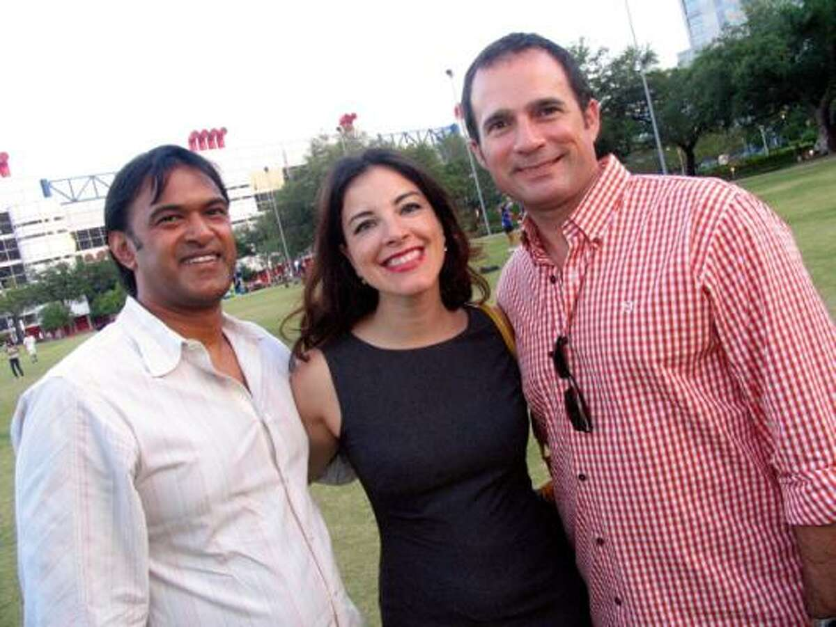 Ramesh Krishnan, from left, Vika Folippov, and Jason Dominquez