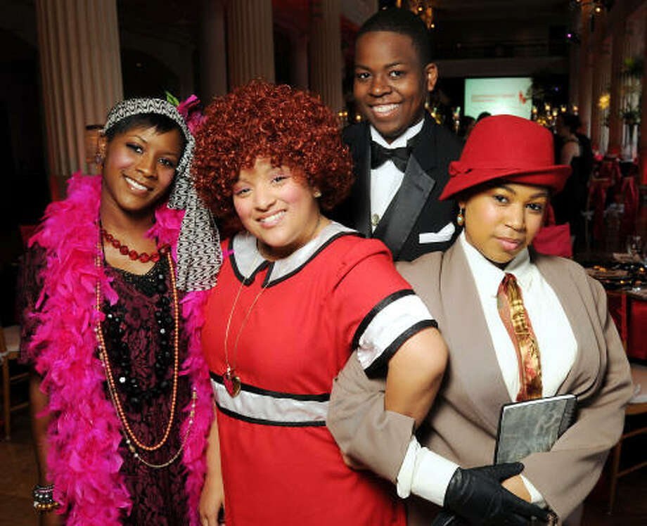 From left: Mikeitta Williams, Taylor Davis, Michael Jackson and Mackenzie Louis at the Big Brothers Big Sisters Gala at The Corinthian. Photo: Dave Rossman, For The Chronicle