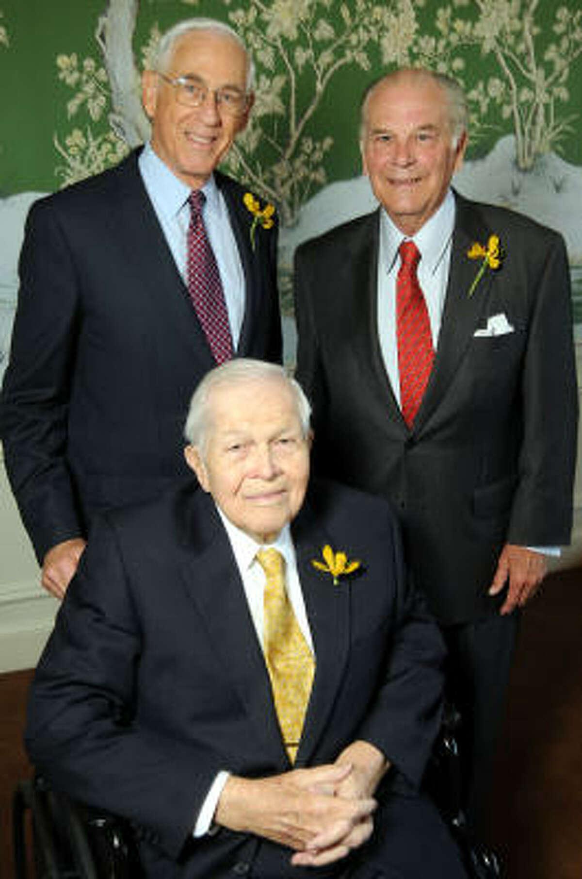 Clockwise from upper left: Honorees John Mendelsohn, Mike Stude and Tom Barrow
