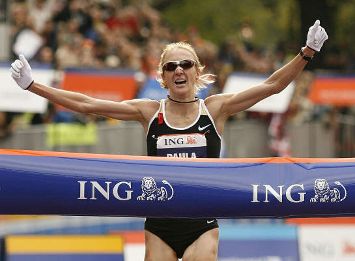 Paula Radcliffe, distance running Won the New York City Marathon in November 2007, the same year that she gave birth to her first child, daughter Isla.