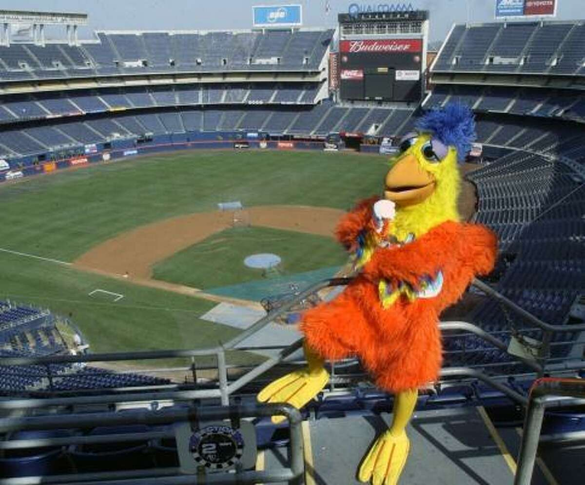 The San Diego Chicken ranks first in Forbes magazine's survey of 10 most-liked sports mascots.