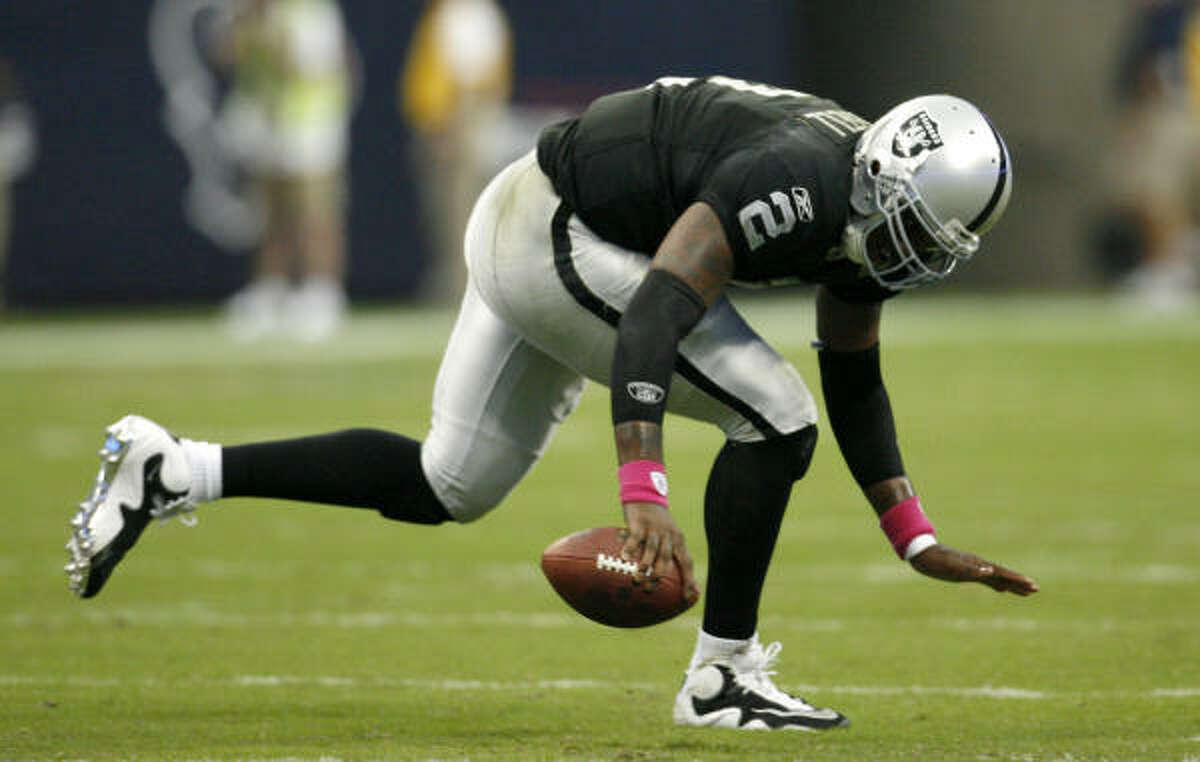 2007: JaMarcus Russell, QB Pick: 1st overall Team: Oakland Raiders Record: 7-18 College: LSU
