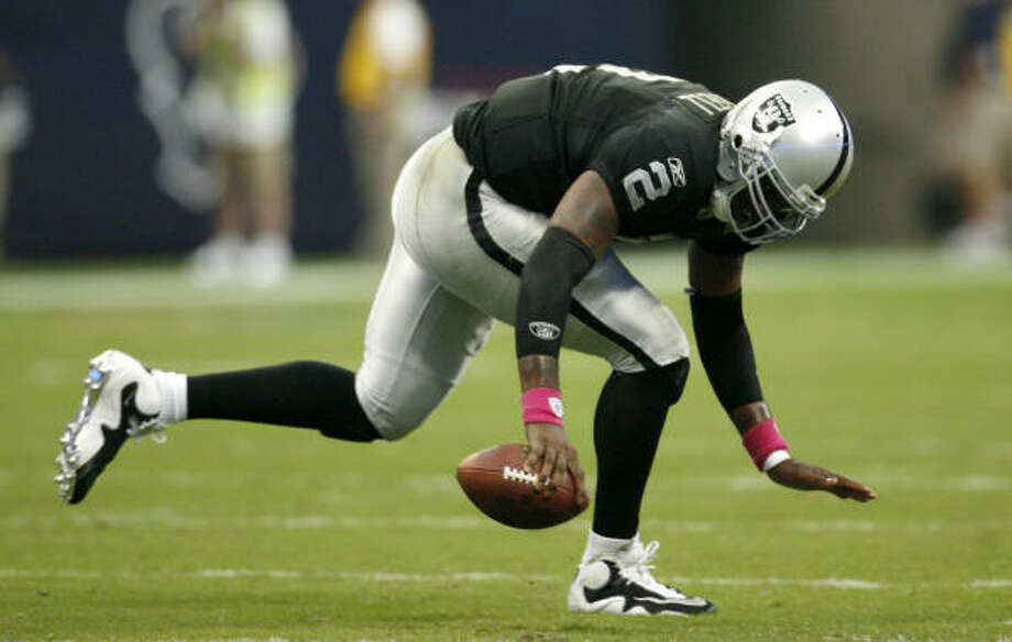 2007: JaMarcus Russell, QB Pick: 1st overall Team: Oakland Raiders Record: 7-18 College: LSU Photo: Karen Warren, Chronicle