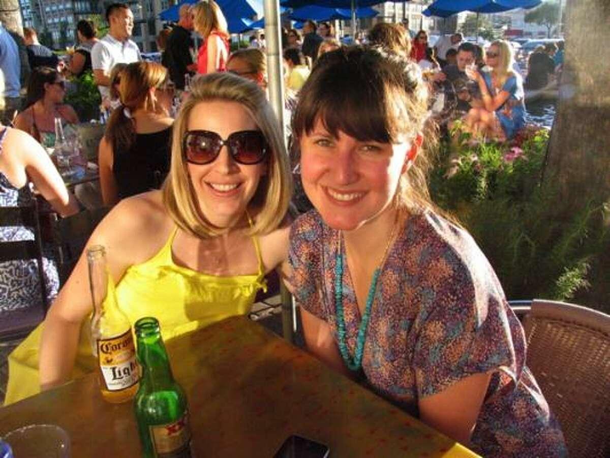 Elin Jackson, left, and Kate Stukenberg
