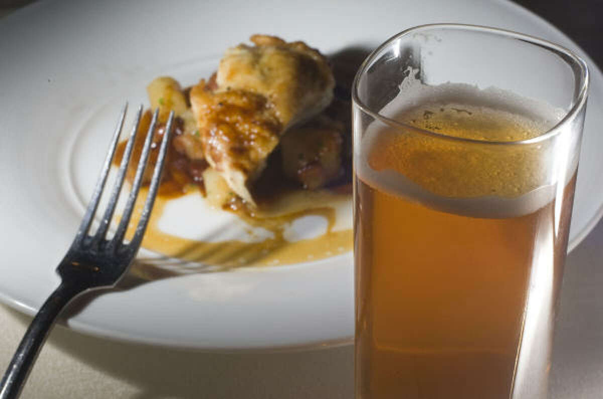 Southern Star's Bombshell Blonde pairs nicely with a Bryan Farms Chicken dish.