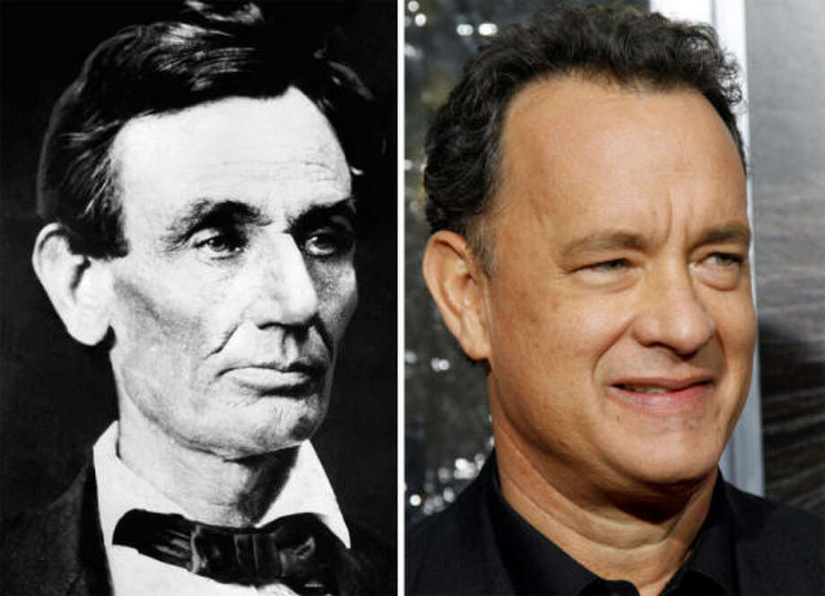 Other notable family trees: Tom Hanks is a third cousin, four times removed, of Abraham Lincoln, the 16th President of the United States. Photo: Handout/AP