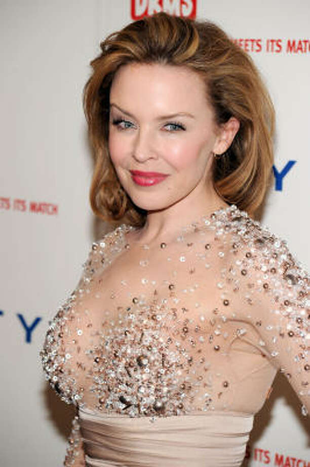 "While singer Kylie Minogue is terrified of the sight and sound of clothes hangers. She tells Britain's Elle magazine, ""The problem is I hate putting things on hangers. I have a hanger phobia - I don't like the way they sound when you put them in the wardrobe."" Photo: Bryan Bedder, Getty Images"