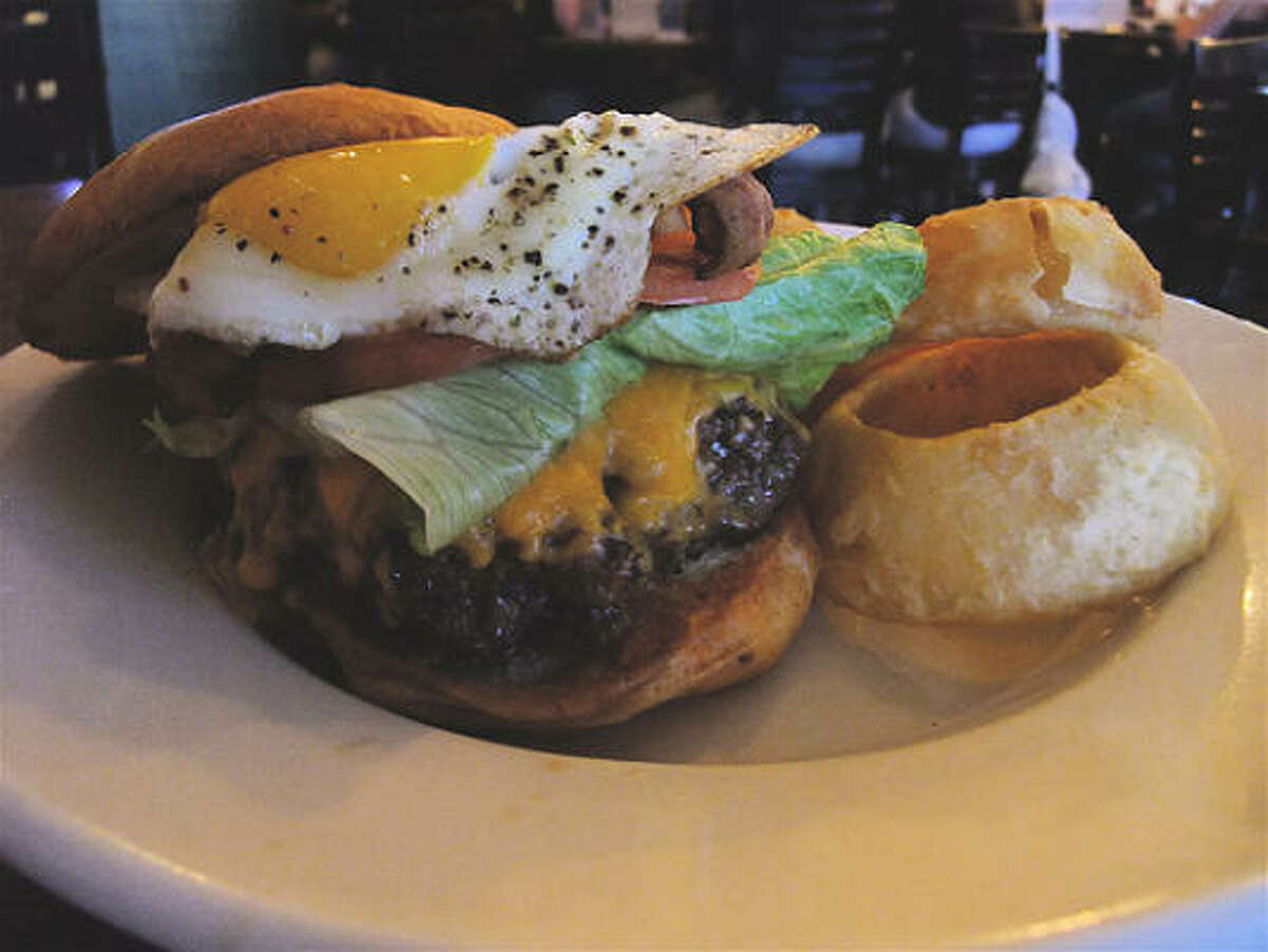 The King Bubba bacon cheeseburger at Rockwell Tavern & Grill in Cypress.