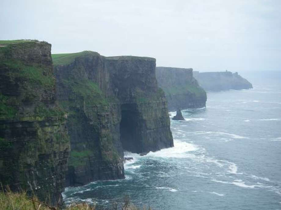 The Cliffs of Moher in Ireland extend nearly five miles, reach a maximum height of 700 feet and are home to colonies of cliff-nesting seabirds, including Atlantic puffins. Photo: Dan Nephin, AP