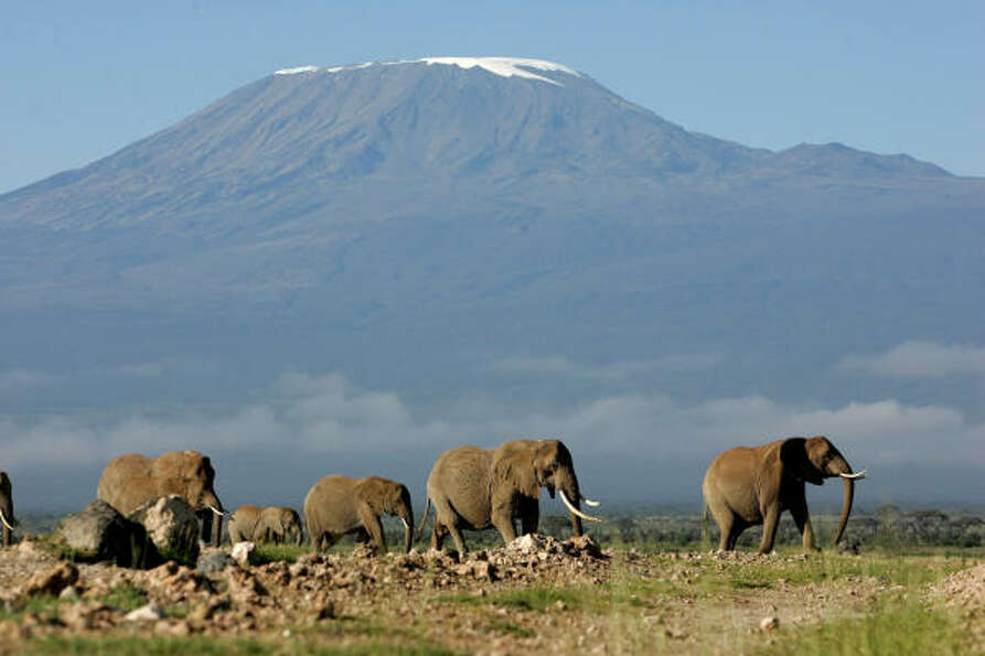Mount Kilimanjaro, in Tanzania, is the world's largest freestanding mountain, at nearl