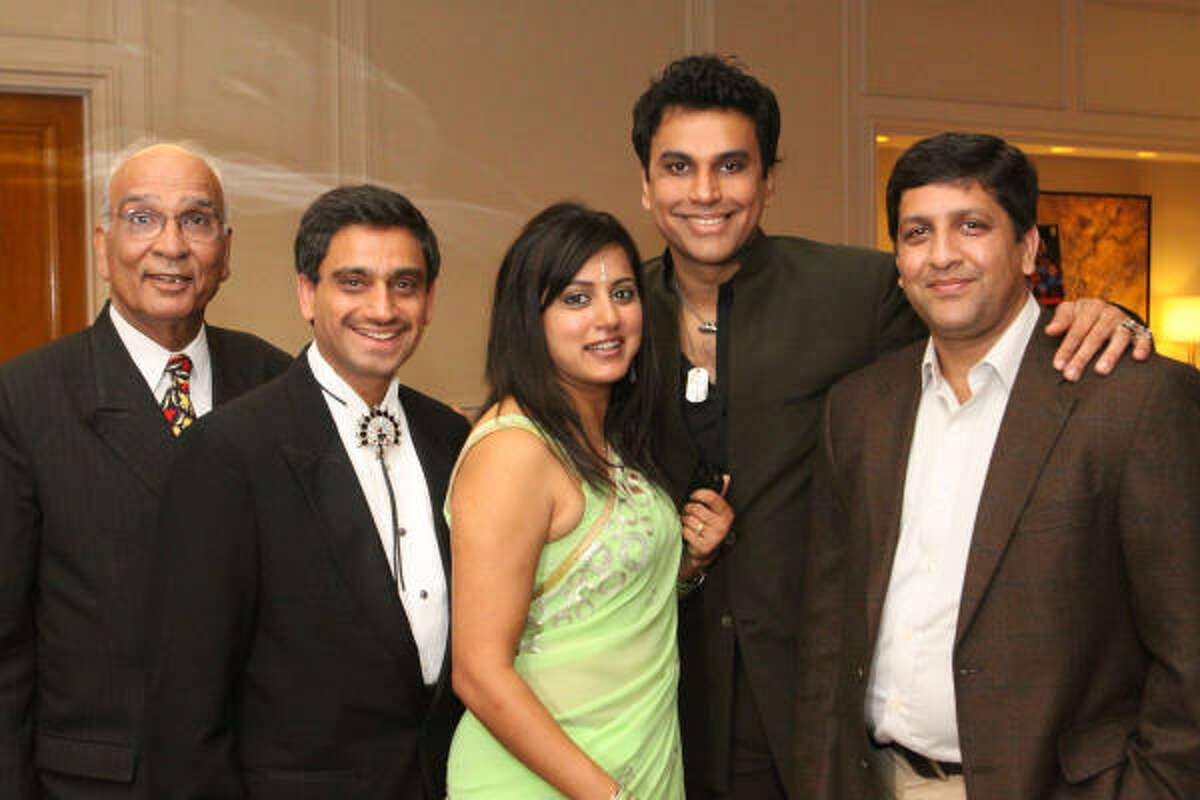 Surender Talwar, Dr. Subodh Bhuchar, Sandhya and Sunil Thakkar and Nimesh Sanghrajka