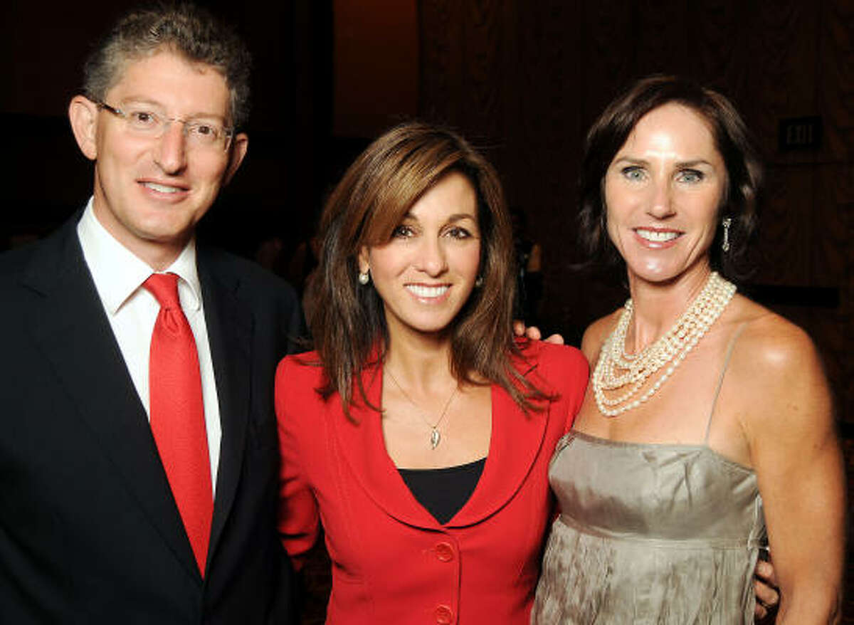 From left: David Gerger, Janet Shamlian and Heidi Gerger at the Holocaust Museum Houston's 2010 Lyndon Baines Johnson Moral Courage Award Dinner at the Hilton Americas-Houston.