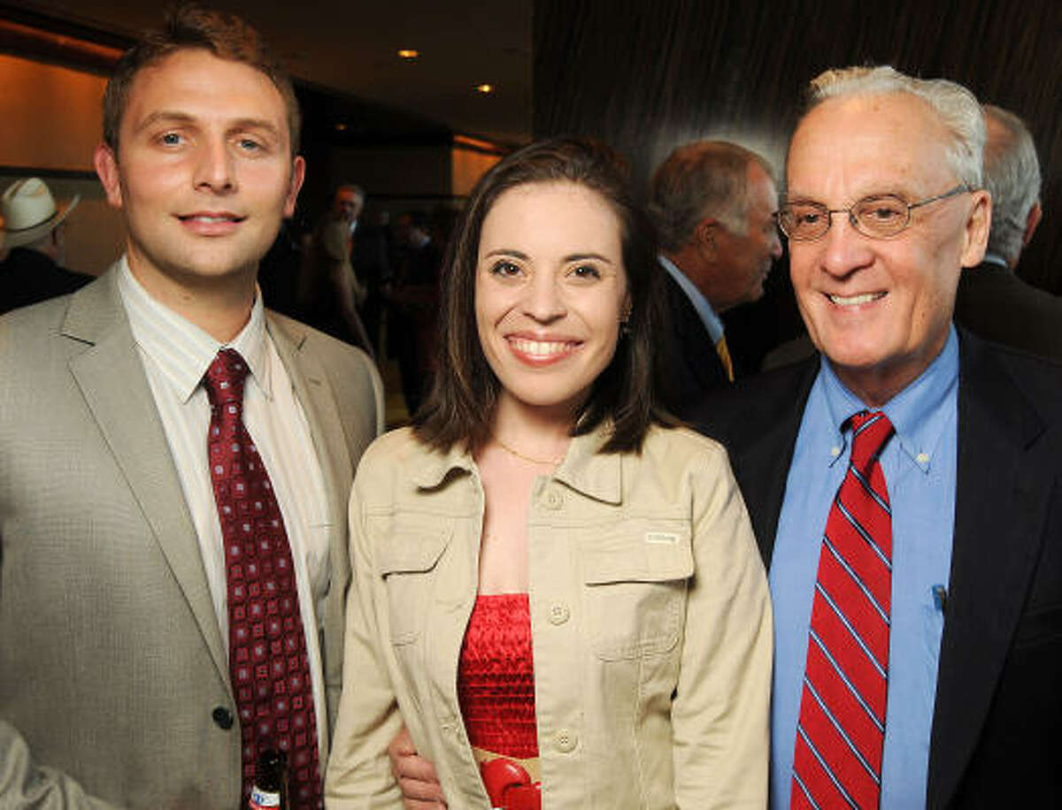 From left: Cameron Javipdvour, Rachel Gass and Peter Brown