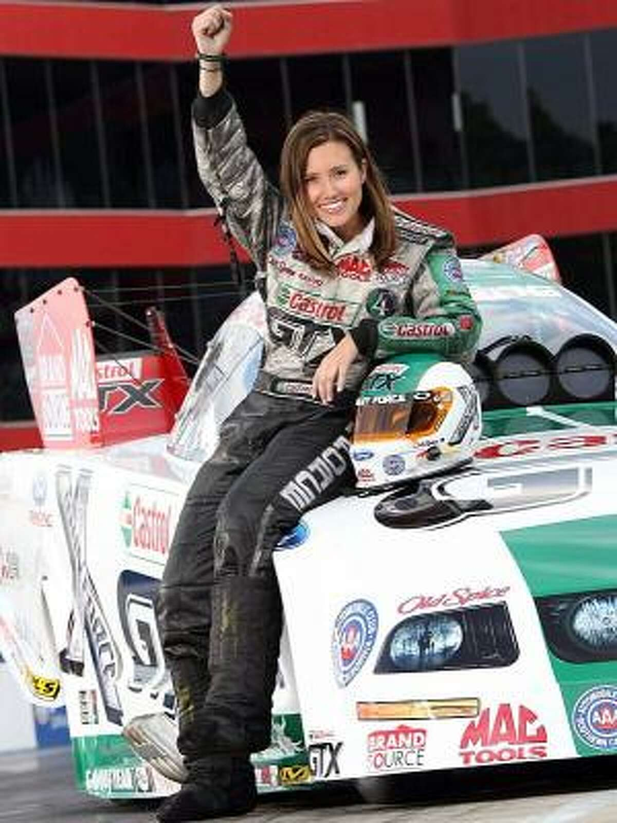 No. 19 - Ashley Force, NHRA racer Nationality: American (Anaheim, Calif.) Age: 27 A-M says: