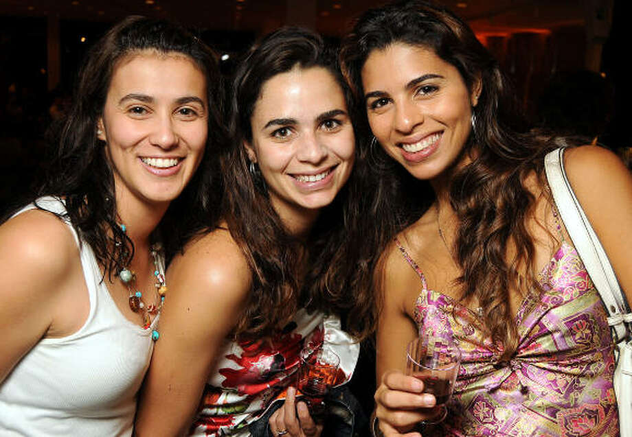 From left: Catalina Nino, Camila Zies and Carolina Cardoso at the kickoff party for the Latin Wave: New Films From Latin America festival at the Museum of Fine Arts, Houston. Photo: Dave Rossman, For The Chronicle