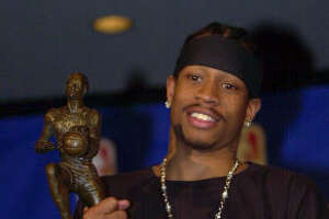 2001: Allen Iverson, Philadelphia 76ers   Iverson led the NBA with 31.1 points and 2.5 steals per game on his way to his only league MVP award. The Answer also helped the 76ers to the best record in the eastern conference (56-26) and the NBA Finals.