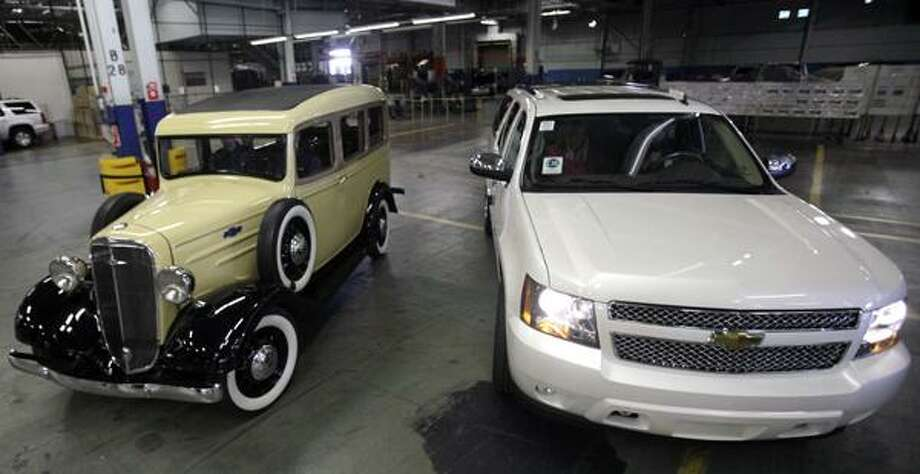 On Monday GM showcased one of the first Suburbans — a yellow vehicle from 1936 — and the new 75th anniversary Diamond Edition. Only 2,750 of those vehicles will be made. See the evolution of the Suburban from the 1930s to today in these photos. Photo: LM Otero, AP