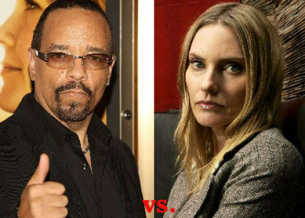 When songwriter Aimee Mann, right, decided to play TV critic she chose Twitter as her forum. Mann bashed Ice T's acting abilities on Law & Order: SVU, then seemed genuinely surprised and afraid when he tweeted a response (which we can't print). She quickly apologized, later tweeting