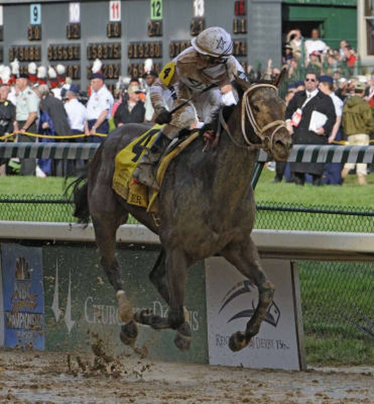 Jockey Calvin Borel rode Super Saver to his third Kentucky Derby win in four years Saturday at Churchill Downs in Louisville, Ky.