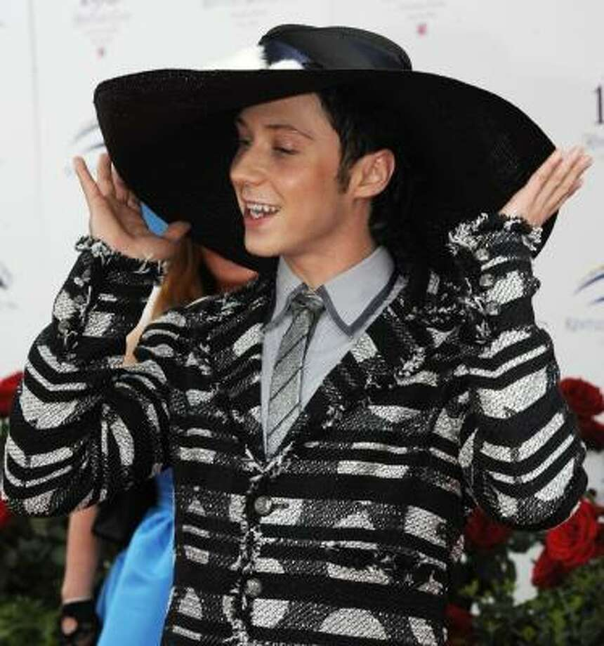 Olympic figure skater Johnny Weir arrives for the 136th Kentucky Derby. Photo: Gail Kamenish, AP