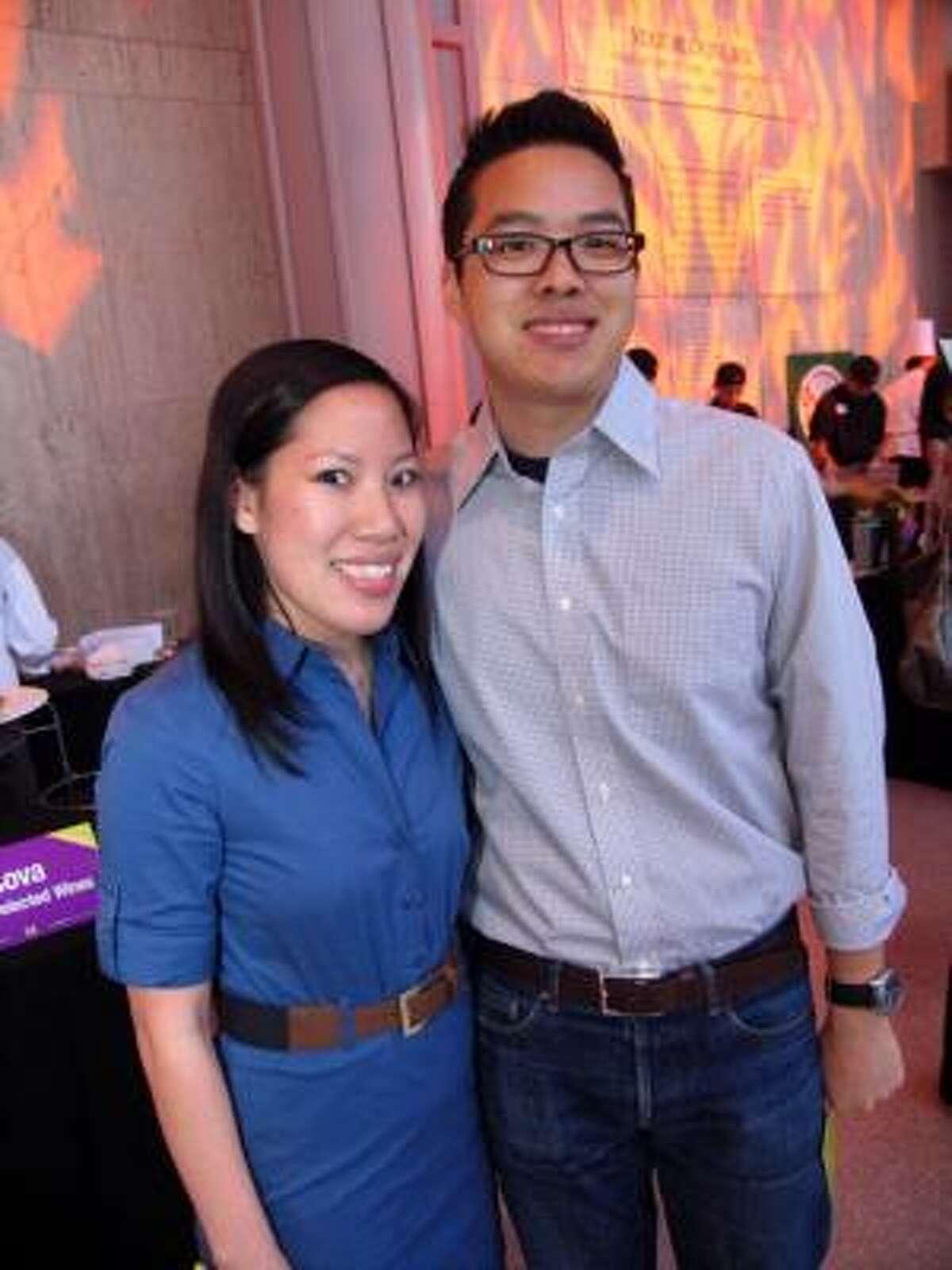 Mary Hoang, left, and Jonathan Ng