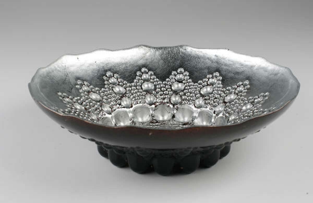 Silver leaf bowl, $55, Krispen.