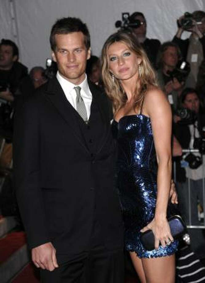 FILE - This is a May 4, 2009, file photo showing New England Patriots' Tom Brady and his wife, model Gisele Bundchen arriving at the Metropolitan Museum of Art's Costume Institute Gala in New York. Photo: Evan Agostini, AP