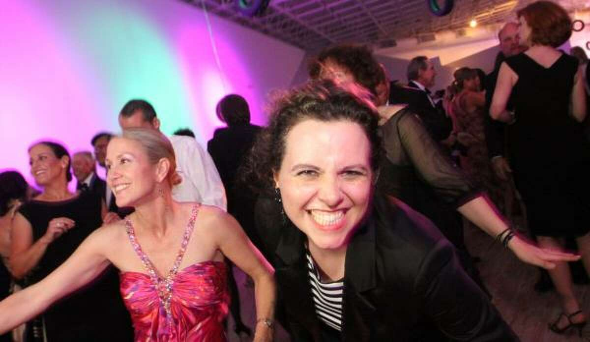Marita Fairbanks and Rainey Knudson party at Fresh Tread, the 2010 gala benefiting the Contemporary Arts Museum Houston, followed by Burning Rubber, the after party.