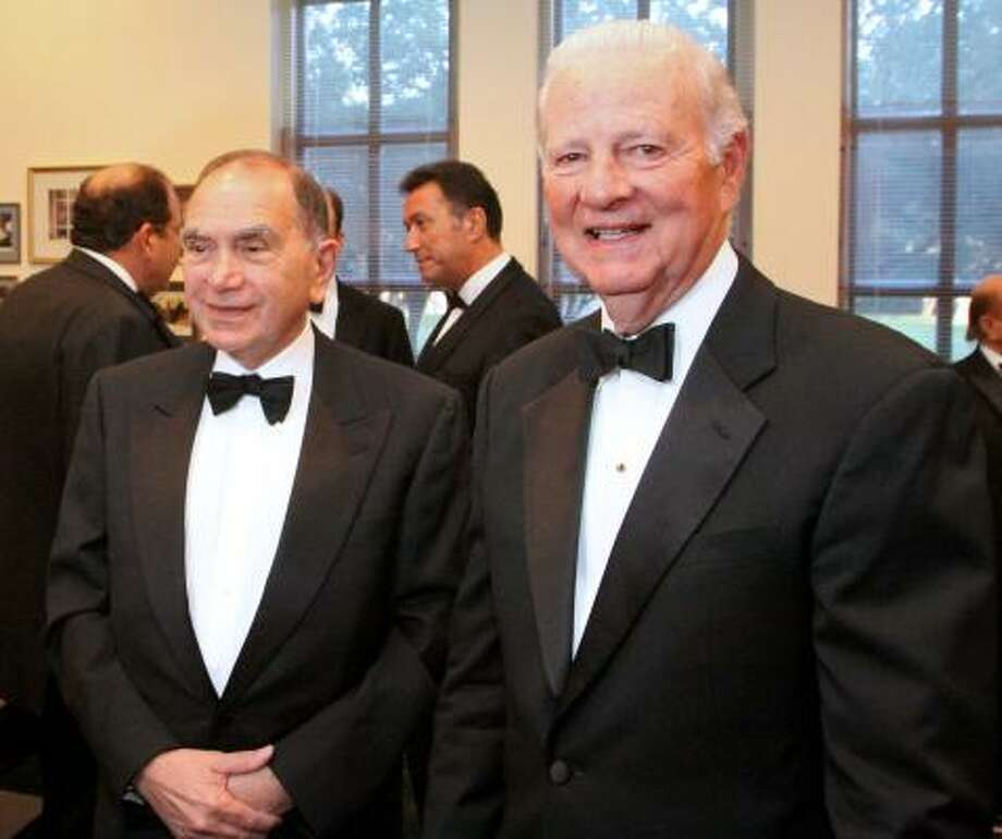 Former Ambassador Edward P. Djerejian and Former Secretary of State James A. Baker III. Photo: Bill Olive, For The Chronicle