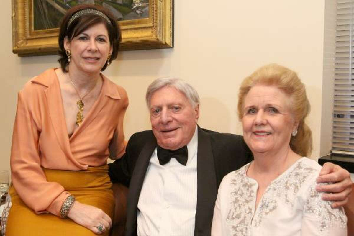 Francoise Djerejian, Joseph D. Jamail and Clare Glassell. Jamail made a $1 million gift to Rice University's James A. Baker III Institute for Public Policy.