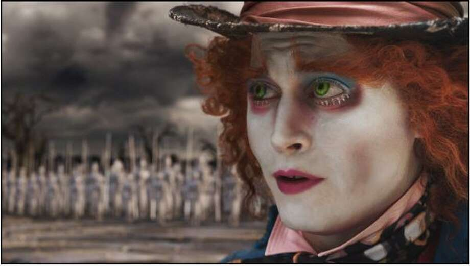 Alice in Wonderland, $2.2 million  A 19-year-old Alice returns to the magical world from her childhood adventure, where she reunites with her old friends and learns of her true destiny: to end the Red Queen's reign of terror. Photo: Associated Press
