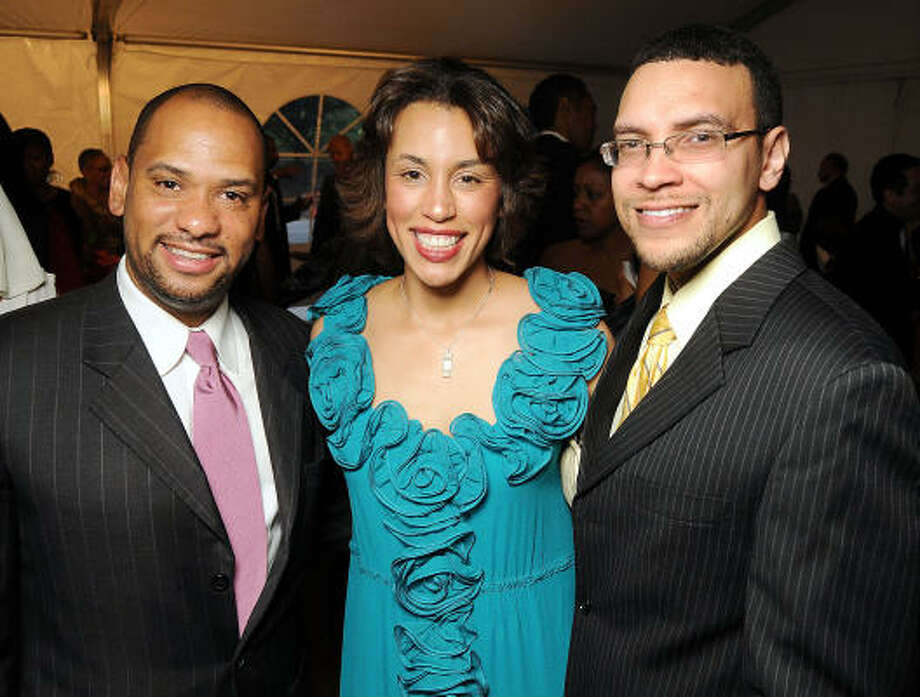 From left: Marcus Smith with Crystal and Randall Wright at the 2010 Power of Legacy Soiree benefiting the American Heart Association's Power to End Stroke campaign. Photo: Dave Rossman, For The Chronicle
