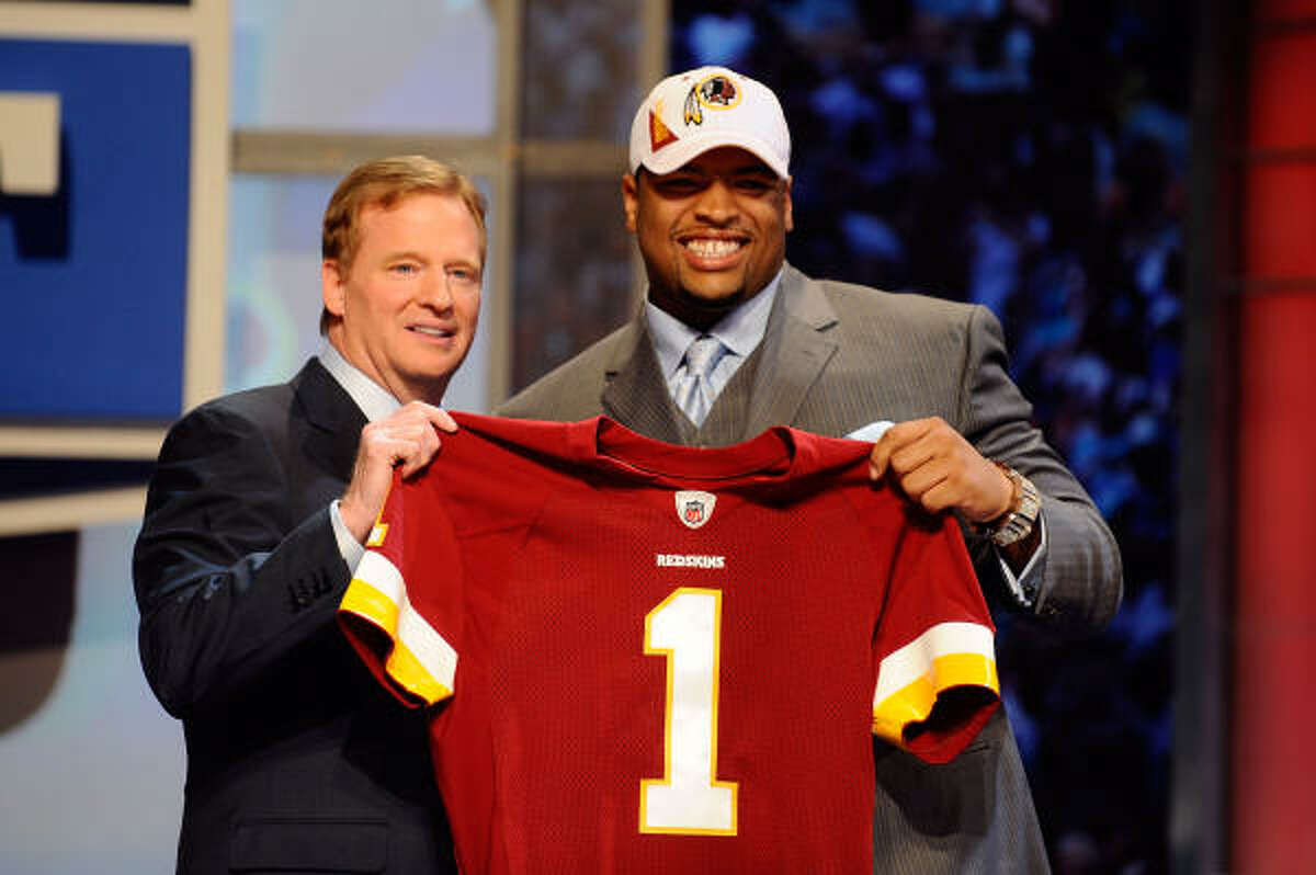 Trent Williams, offensive tackle Selected in first round, fourth pick by the Redskins Texas tie: Longview High School Williams was first team all-district as a senior, first team All-East Texas and second team Texas all-state at Longview. In college, he was named All-Big 12 first team.