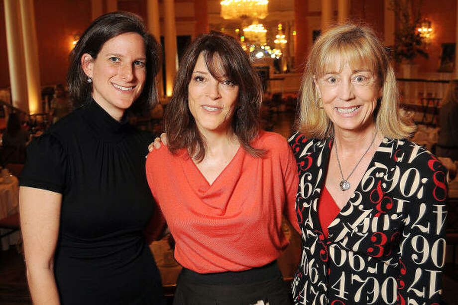 Meredith Kessler Bliss, Marianne Williamson and Beverly Bentley at Picturing the Possibilities, a luncheon benefiting ArtBridge, an arts program for homeless children. Photo: Dave Rossman, For The Chronicle