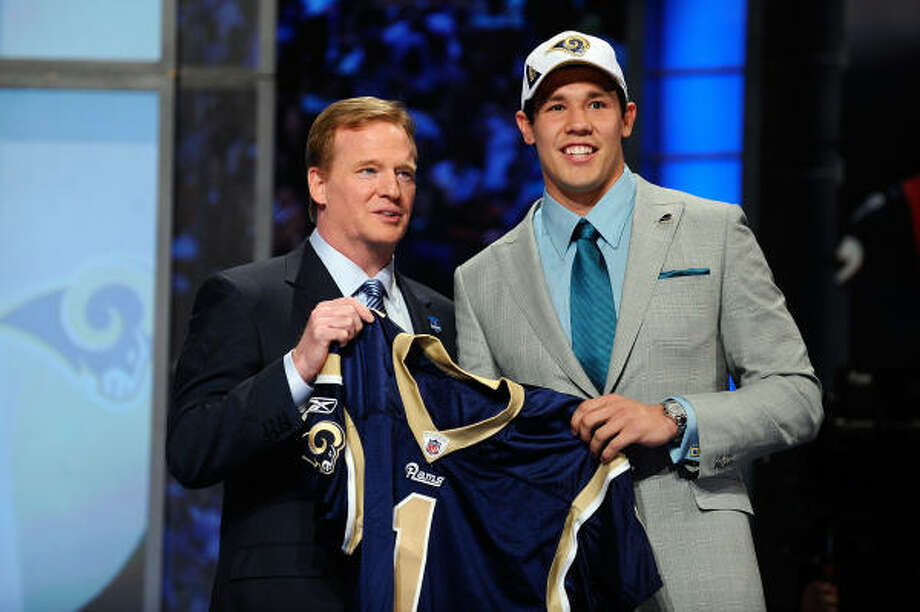 Pick No. 1: Sam Bradford Rams, QB, Oklahoma Sooners Photo: Jeff Zelevansky, Getty Images